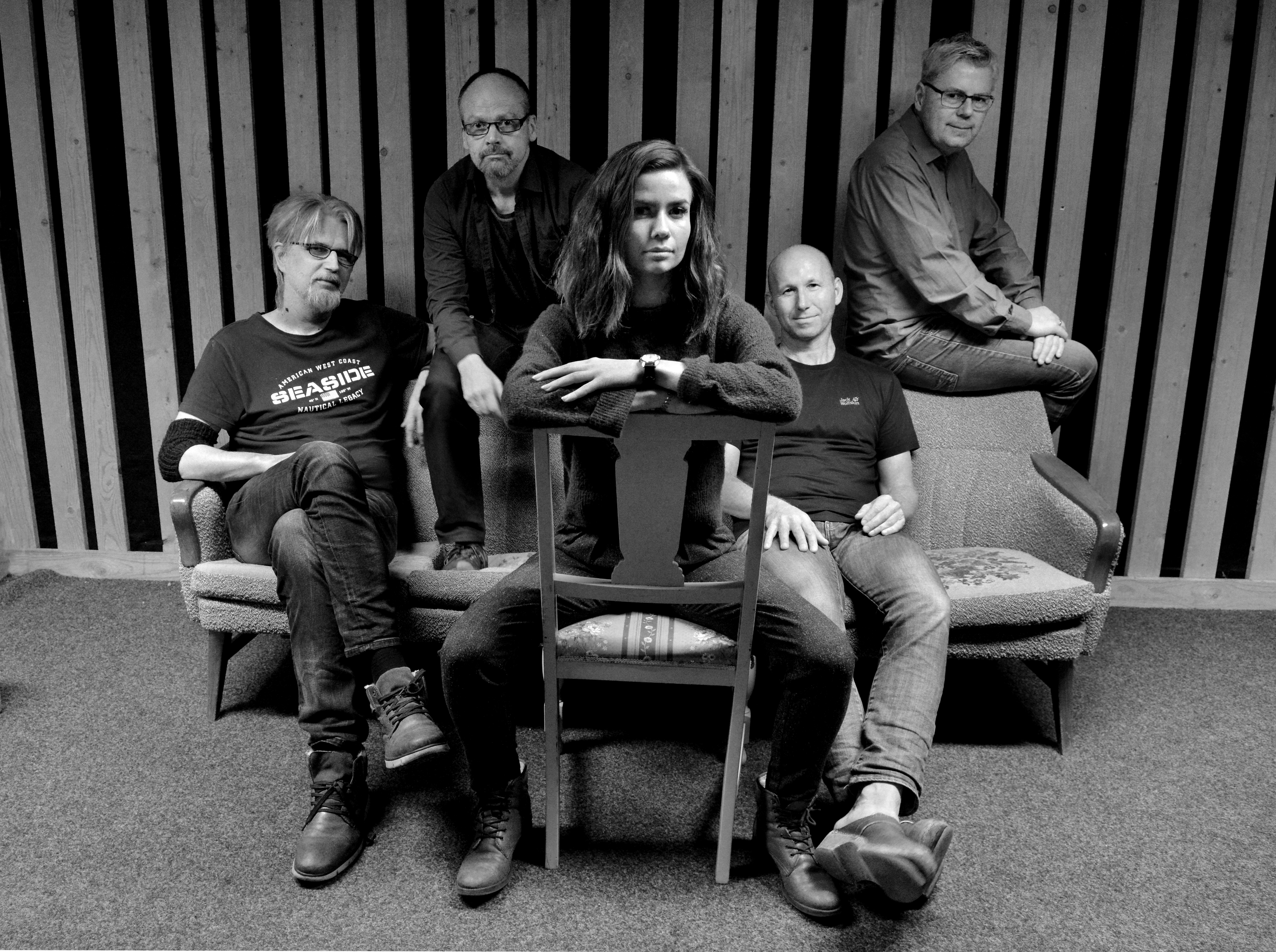 Veracruz: (Fra venstre) Arild Eriksen, John Arne Paulsen, Sofie Almåsvold, Harald Bach-Gansmo og Per Stokkebryn. Foto: Veracruz